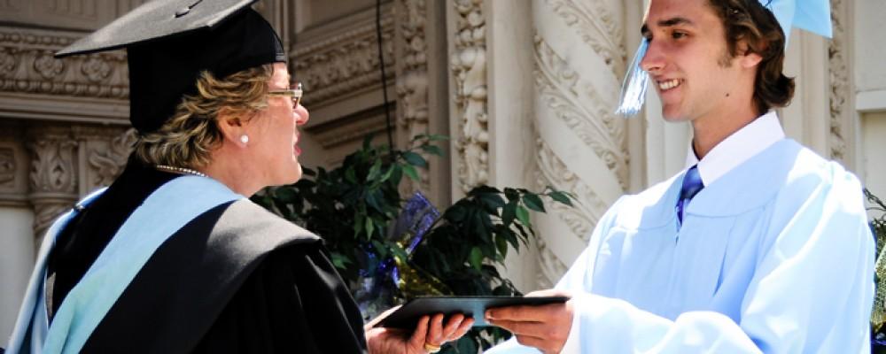 getting diploma at graduation